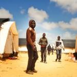 Issa fra Ghana i Røde Kors' transitlejr ved den Libyske grænse
